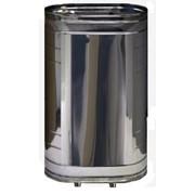 Бак для бани из нержавейки 100, вертикальный, сталь AISI 439 фото