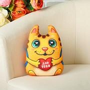Мягкая игрушка-антистресс - Котик с сердечком фото
