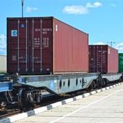 Перевозка контейнерных грузов по железной дороге фото