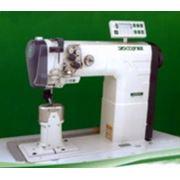 Двухигольная машина челночного стежка с унисонной подачей верхнего и нижнего ролика и иглы с автоматикой ZOJE ZJ9620-D Швейные машины для тяжелых материалов фото