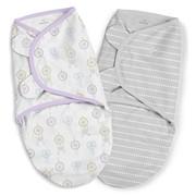 Конверт Summer Infant Конверт на липучке SwaddleMe Organic®, размер S/M, (2 шт), ловец снов/сиреневый/серый фото