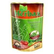 Herbax 100г пауч Влажный корм для взрослых кошек Аппетитный кролик в соусе с травами фото