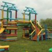 Деревянные детские площадки фото