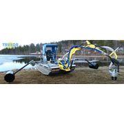 Очистка дна водоемов от иловых отложений с применением земснаряда-амфибии Truxor DM 5000. фото