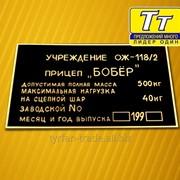 Таблички металлические дублирующие на УАЗ фото
