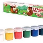 """Краска 007219 Луч 19 С 1250-08 ГУАШЬ """"Zoo gouache"""" 6 цветов емк.125 гр ( уп.1 шт.) фото"""