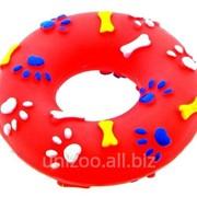 Игрушка для собак Кольцо виниловое 11х3,5 см фото