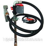 Насос для перекачування і заправки (роздавання) дизельного пального з бочки або баку PTP 24В, 40 л/хв фото