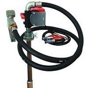 Насос для перекачки дизельного топлива из бочки PTP 12В, (24В) 40 л/мин. Насос на бочку или бак. фото