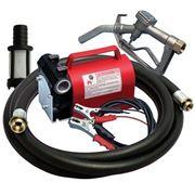 Насос для перекачки и заправки дизельного топлива, очень легкий переносной комплект 12В, 40 л/мин фото