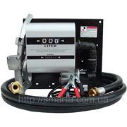 Мобильная топливозаправочн станция для дизельного топлива с расходомером WALL TECH 60, 12В, 60 л/мин фото