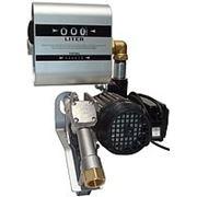 Насос со счетчиком для заправки дизельного топлива для бочки DRUM TECH, 220В, 60 л/мин. Насос для ДТ фото