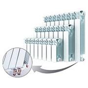 Биметаллический секционный радиатор Rifar Base 500 Ventil, с нижним подключением; кол-во секций 13 ; В*Ш; 570*1027 фото