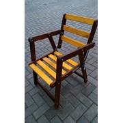 Раскладной стул с подлокотниками фото