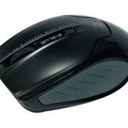 Мышь E-Blue Arco mini, беспроводная, лазерная мини-мышь, чёрная, 1 AA, 1200 DPI фото