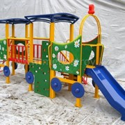 Комплекс детский сюжетно-ролевой Паровоз-Ромашка, Детские игровые площадки,Размер: 6.0x2.5x2.4 m фото