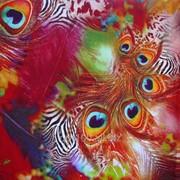 Штапель цветной - ткань 12205-2 фото