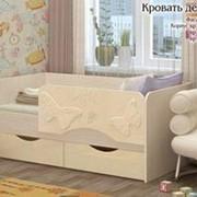Детская кровать бабочка 1,4 ваниль фото