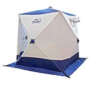 Палатка зимняя куб Следопыт 2,1 х 2,1 м 4-местная бело-синяя PF-TW-05 фото