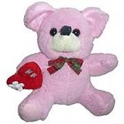 Мягкая игрушка Мышка с сердцем 19см фото