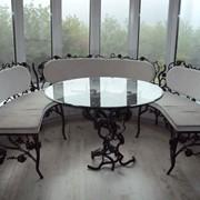 Кованная интерьерная мебель фото