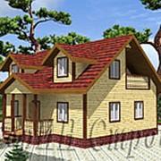 Лучший деревянный дом из профилированного бруса 8х10, проект № 30 фото
