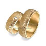 Заказать обручальные кольца золотые фото