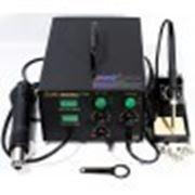 Термовоздушная паяльная станция Lukey 852D+FAN с паяльником с электродвигателем в ручке фена. фото