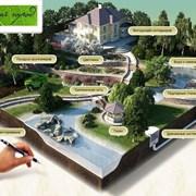 Благоустройство и озеленение территорий фото