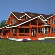 Проектирование домов из клееного бруса, проектирование бани, беседки из клееного бруса фото