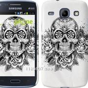Чехол на Samsung Galaxy Core i8262 Череп и розы 1208c-88 фото