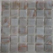 Мозайка стеклянная белая золотистая фото
