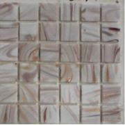 Мозайка стеклянная белая с оттенки коричневым фото