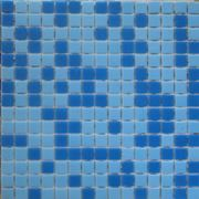 Blue glass mosaic in 2 colors фото