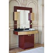 Мебель для ванной Kvadro A цвет бордо с золотом фото