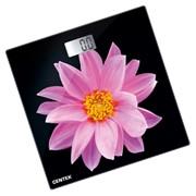 Весы напольные Centek CT-2416 (Pink Flower) электронные 180 кг, 0,1кг, LCD 45x28, размер 26х26см фото