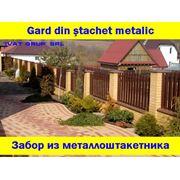 GARD DIN STACHET METALICЗАБОР ИЗ МЕТАЛЛОШТАКЕТНИКА фото