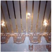 Реечные алюминиевые потолки фото