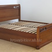 """Двуспальная кровать """"Афина"""" из массива дуба фото"""