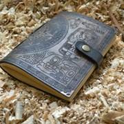 Кожаные блокноты с гравировкой фото