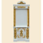 Напольный киот 14 (золото+белый) фото