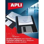 Самоклеящийся Карман APLI Для Дискет, Неудаляемый, Прозрачные, 105Х100мм 10 шт/уп фото