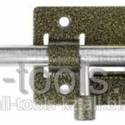 Задвижка накладная ЗД-01 для дверей, корпус-порошковое покрыт/стержень-покрыт цинк, бронза, круг засов 14мм Код:37774-1 фото
