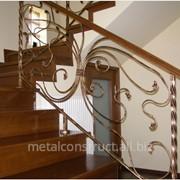 Внутренние лестничные перила №16 фото