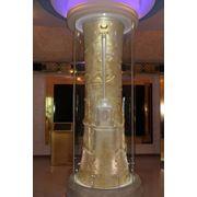 Колонны алматы Музей 1-го Президента_Колонна стеклянная фото
