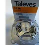Розетка оконечная - 2 диплексора ТВ/FM-SАТ Испания фото