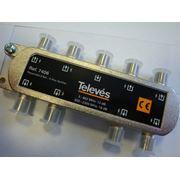 Делитель ТВ сигнала на 8 выходов (5-2400 МГц) Испания фото