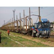 Локомобиль - тяговый модуль вагонов (ТМВ). Машина на комбинированном железнодорожном ходу. фото