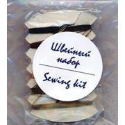 Набор швейный (нитки иголка пуговицы булавка) в прозрачной упаковке серия УЮТ фото