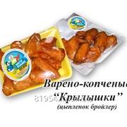 Варено-копченые куриные крылышки фото